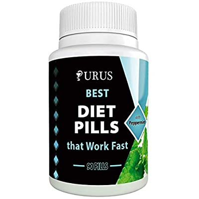 Peppermint Natural Diet Pills - Effective Weight Loss Supplements Combining Appetite Suppressant - Fast Fat Burner and Natural Detox Features - 90 Natural Diet Pills