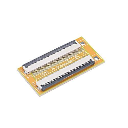 uxcell ピン - ピン0.5 mmピッチFPCコネクタ拡張アダプタ 0.5mmピッチ 54ピン-54ピン延長コネクタアダプタ FFC FPCケーブル延長ZIF HDD 1個入り
