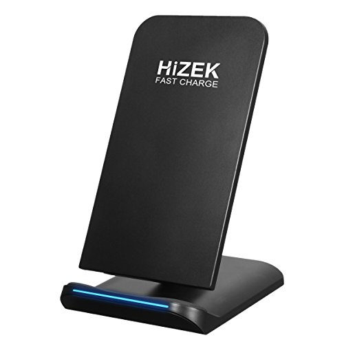 Fast Wireless Charger, Hizek 10W Qi Wireless Charging Sta...