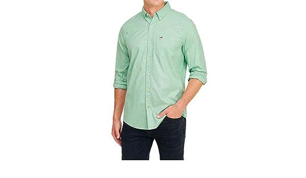 Hollister - Camisa Casual - Manga 3/4 - para Hombre Verde Verde X ...