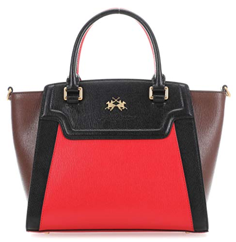 Mars Portena Handbag La Martina Black La Potting Red Soil npqIEWB