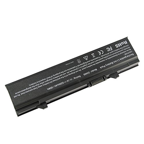 Battery 58Wh for Dell Latitude Laptops E5400 E5410 E5500 E5510, Part # RM661 KM970 RM649 MT322 PW640 KM668 KM752 KM970 WU841 T749D KM760 KM742 5200 mAh 6 cell