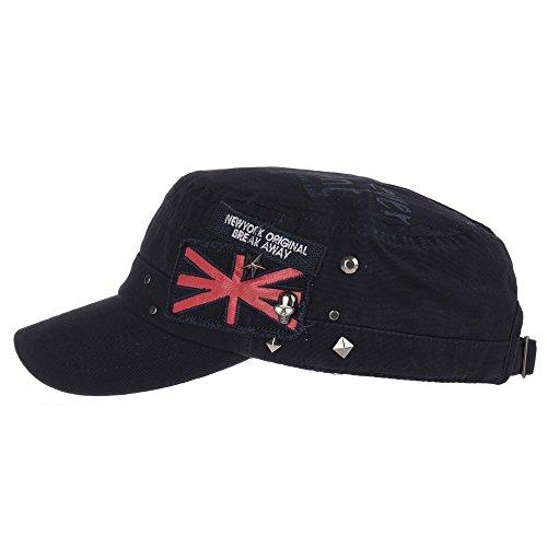 Gorras CR4374 Hat Star Cadet Armada Camuflaje WITHMOONS del Jack béisbol Skull de Cotton ejército Estilo Union Cap US Studs qnwgpTIf