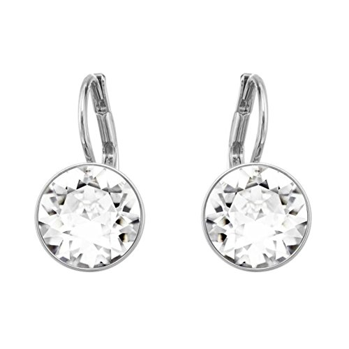 Bella Pierced Earrings Swarovski (Swarovski Crystal Bella Mini Pierced Rhodium Plated Earrings)