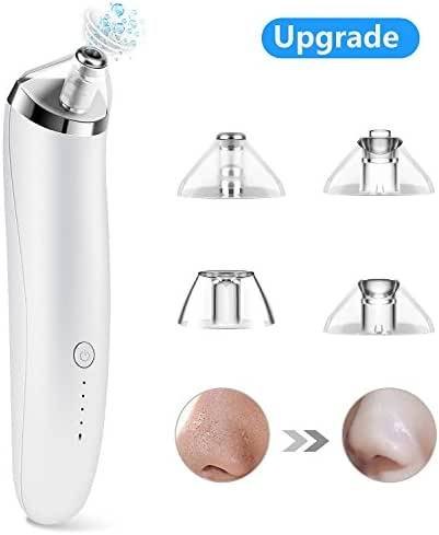 Blackhead Remover, USB Chargeable Blackhead Vacuum Suction Remover, Electric Skin Cleanser Blackhead Extractor Tool, Skin Pore Cleaner Microdermabrasion Machine with 4 Replaceable Suction Heads