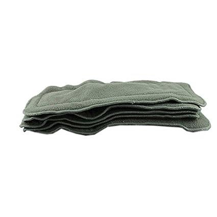 Tefamore 5Pcs Pañales de Tela 4 Capas de Carbón de Bambú Inserta para el Bebé pañal lavable Tefamore_2816