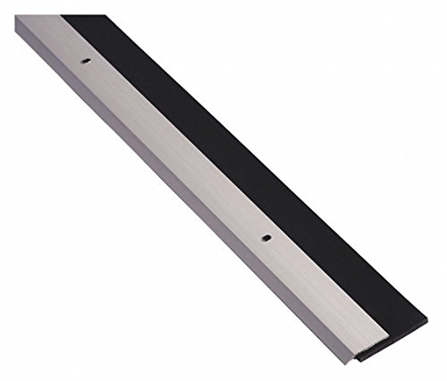 Door Sweep, Anodized Aluminum, 3 ft. Length, 1-1/4'' Flange Height, 1-3/16'' Insert Size by National Guard