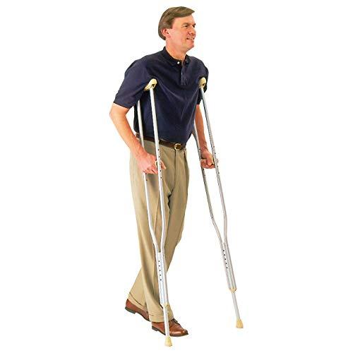 Carex Push Button Aluminum Crutch, Adult ()