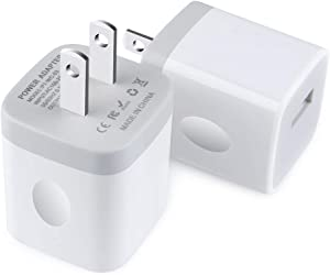 Single USB Wall Charger,TePoo 2 Pack 1A 5V One Port Plug Power Adapter Charging Block Cube Box Brick for iPhone SE,11 Pro Max/XS/XR/X/8 Plus, Samsung Galaxy S20 S10 S9 Note 10,LG,Android Phone