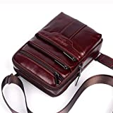 Small Leather Shoulder Messenger Bag for Men Travel