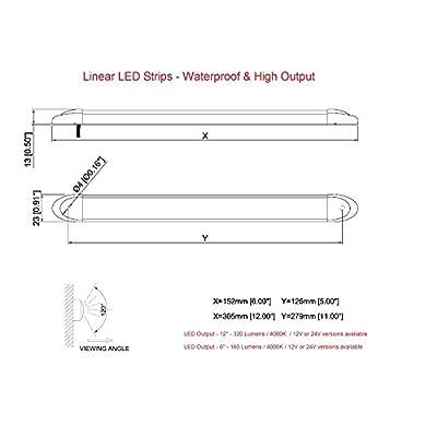 LED High Output LED Bar Light - Marine, RV - Waterproof 12