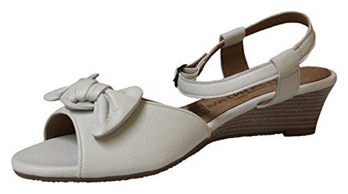 Natural Feet Tessamino Cecina Sandalen Wedge Sandaletten Hirschleder Weiß Gr. 39