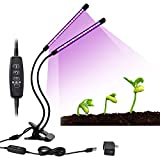 LEGOODS 20W Dual Head Timing Grow Light,40 LED 9 Dimmable Levels 3/9/12H Timer Plant Grow Lights with Red/Blue Spectrum and 360 Degree Flexible Adjustable Gooseneck for Indoor Plants 2018 Upgraded For Sale
