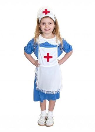 7d149b79b9e Nurse Childrens Girls Nurses Fancy Dress Costume Outfit, Medium (Age: 6-8)  by JoJo's Costumes