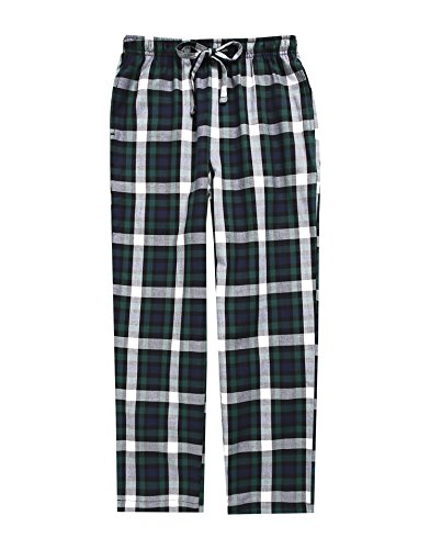 TINFL 6-14 Years Big Boys Plaid Check Soft Lightweight 100% Cotton Long Pants