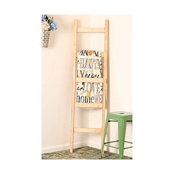 BrandtWorks Pine Blanket Ladder 72 x 18