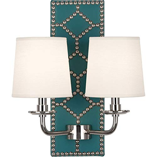 Robert Abbey S1033 Williamsburg Lightfoot - Two Light Wall Sconce, Choose Finish: Polished Nickel