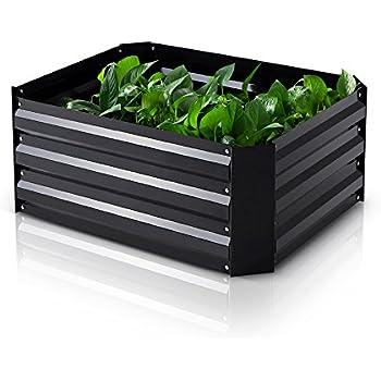 IKayaa Metal Raised Garden Bed Kits Rectangle Growing Vegetable Flower Herb  Planter 30