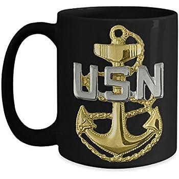 3cfa9520 Amazon.com: Personalized Navy Coffee Mug - US NAVY Chief Petty ...