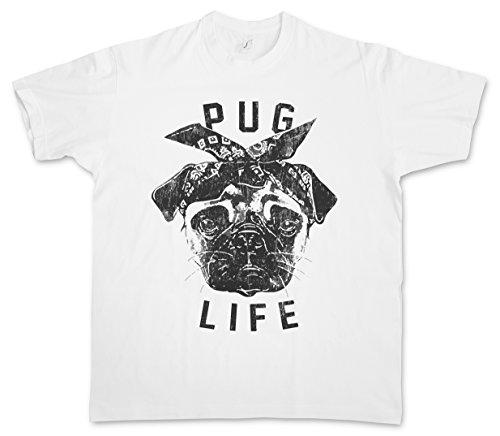 PUG LIFE I T-SHIRT – Mops Möpse Hip Hop Ghetto Life Gangster OG Criminal Rap Mobster Größen S – 5XL
