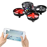 JTT-TOYS L10 Mini Quadcopter Drone with FPV Camera Live Video App WiFi Phone Control High Hold Mode 3D Flips & Rolls 6-Axis Gyro Gravity Sensor RTF Helicopter-Black