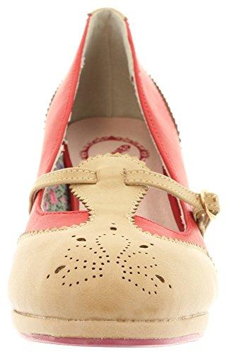 Banned - Zapatos de vestir de Material Sintético para mujer Rojo - Red-Tan