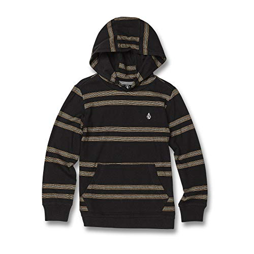 (Volcom Little Boy's Tehas Hooded Long Sleeve Shirt, Black 3T)