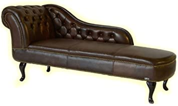 Chaise lounge sofa leder  EDLES WOHNEN~RECAMIERE/CHAISELONGUE/CHAISE LEDER BRAUN: Amazon.de ...