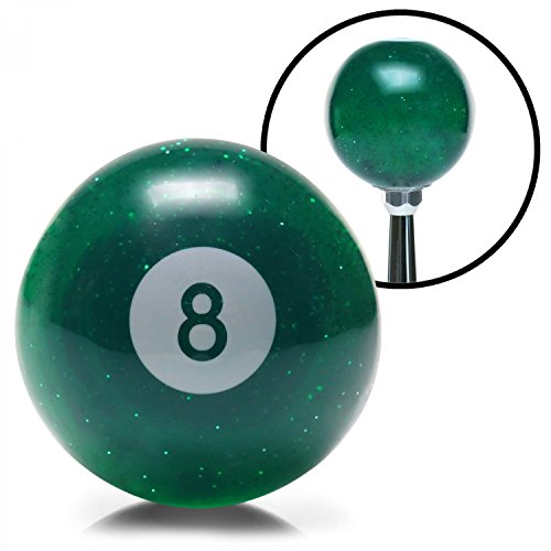 American Shifter 54090 Green 8 Ball Shift Knob with Metal Flakes
