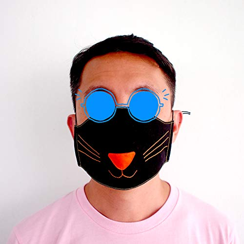 (Black Cat Unisex Protective Anti-Pollution Dust Mouth Nose Face Cotton Fabric Mask For Man)
