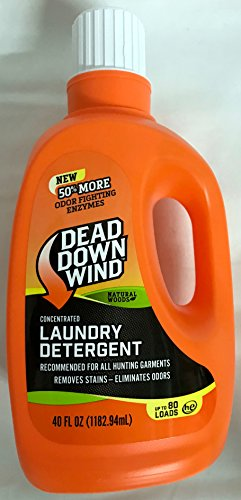 Wind Garments - Dead Down Wind Laundry Detergent 40 oz - Odor Elimination for Hunting Gear - Natural Woods