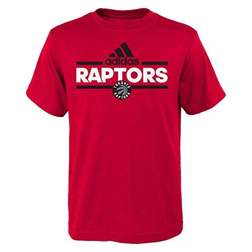 NBA Youth 8-20 Toronto Raptors Replen Mini Dassler Short Sleeve Tee-Red-S(8)