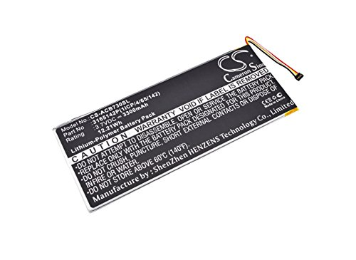 Cameron Sino 3300mAh / 12.21Wh Replacement Battery for Acer Iconia One 7 B1-730HD by Cameron Sino