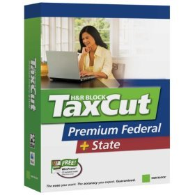 Taxcut/tax Cut H&r Block Premium Federal + State Software Cd For Windows & Mac