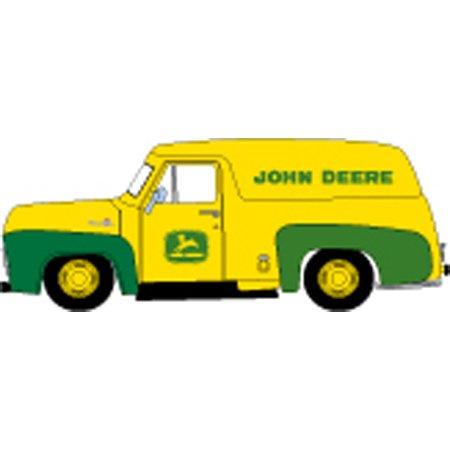 HO RTR 1955 Ford F-100 Panel Truck, John Deere (1955 Ford Panel Truck)