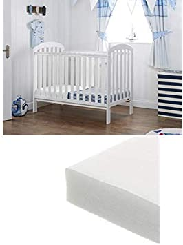 Obaby Lily Cot and Eco Foam Mattress White