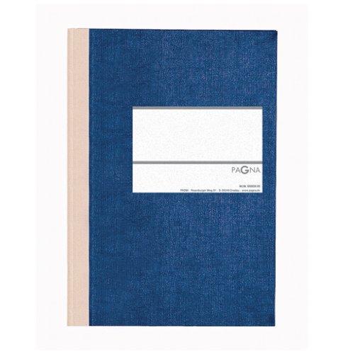 Pagna 15212-02 Geschäftsbuch PNA CLASSICA A5 Papiereinband mit Leinenstruktur, Geweberücken 96 Blatt, kariert, Farbe: blau