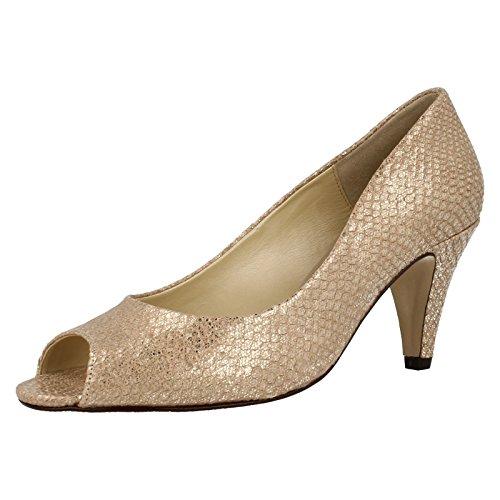 Van Dal Walsingham Taupe Cuir Chaussures Imprimé métallique-cour - Taupe métallisé BkoMGC1EZ