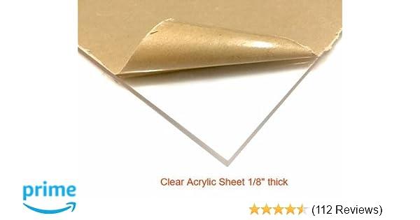 "1 Sheets 1//8/"" CLEAR Mirror  Acrylic Plexiglass 12/"" x  24/"""