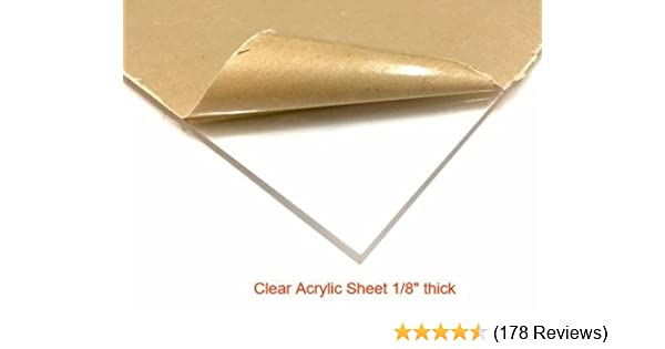 "Clear Acrylic Plexiglass Sheet 1//8/"" x 24/"" x 48/"""