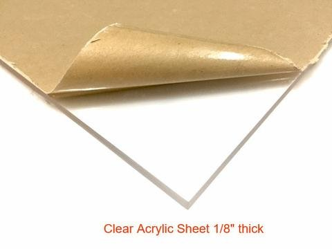 (Clear Acrylic Plexiglass Sheet - 1/8