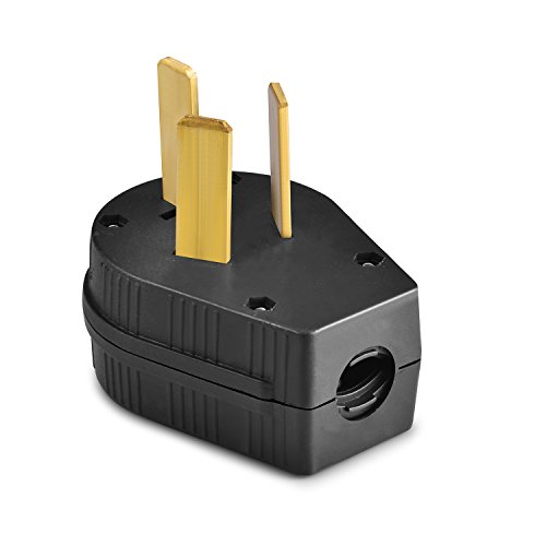 Aweking Nema 10-50P Power Plug Connector,50A 50 Amp,AC 125V 125 Volt,250V 250Volt,2 Pole 3 Wire,Grouding,Generator,Black