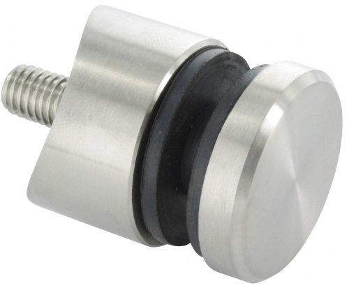 Glas-Punkthalter 30mm f/ür Glas 6,5-16mm V2A Anschluss /ø42,4mm
