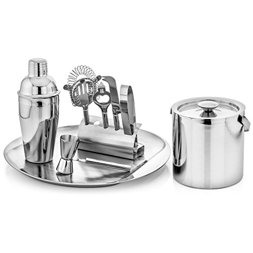 GSCW Bar Set with Ice Bucket and Serving Tray (Bucket Set Mini)
