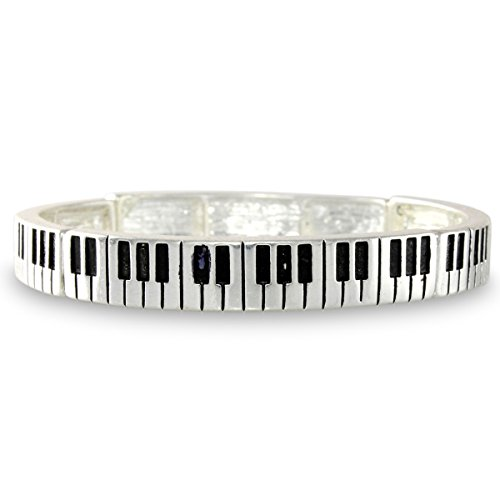 piano-key-musical-instrument-silver-tone-keyboard-concert-stretch-bracelet