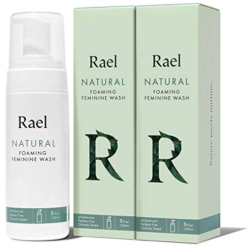 Rael Natural Feminine Cleansing Wash – Gentle Foaming Intimate Wash, pH-Balanced, Sensitive Skin, Unscented, Daily…