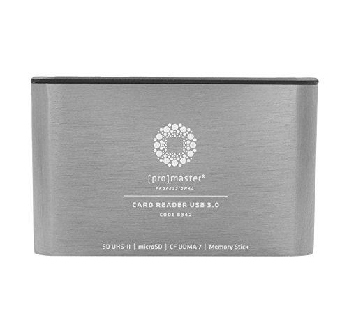 ProMaster Professional USB 3.0 Multi Card Reader CF/SD/MicroSD/Memory Stick