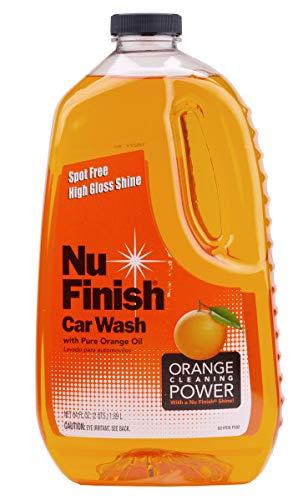 Nu Finish E301656500 Car Wash Soap, No Spots Or Streaks, Pure Orange Oil Formula, Removes Tar, Tree Sap, Bugs, Bird Droppings, 64 oz, 64. Fluid_Ounces