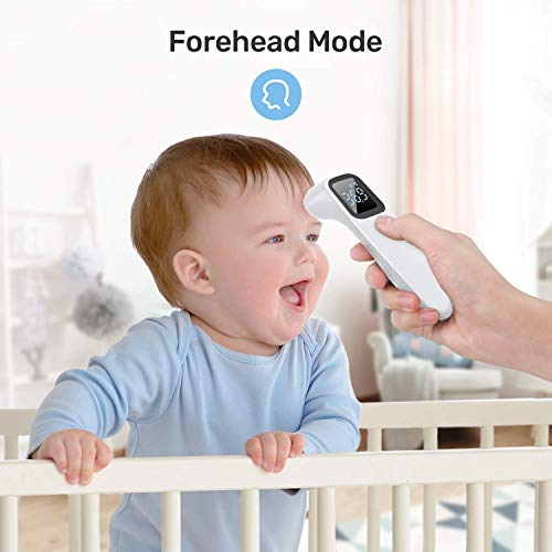 ROCSTDM Infrared Forehead Thermometer, Portable Non-Contact Infrared Thermometer Gun Digital Electronic Temperature Test Fever Alarm Termometro