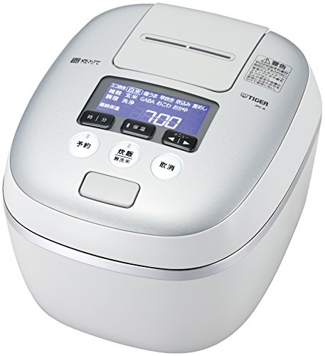 TIGER IH pressure rice cooker (5.5 Go cook) TAKITATE JPC-A100-WH (White Gray)